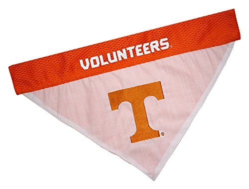 - Pets First Collegiate Pet Accessories, Reversible Bandana, Tennessee Volunteers, Small/Medium
