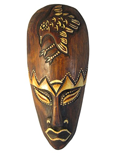 Guard of the Nest, Hand Carved African Tribal Wooden Mask, 8 Inch