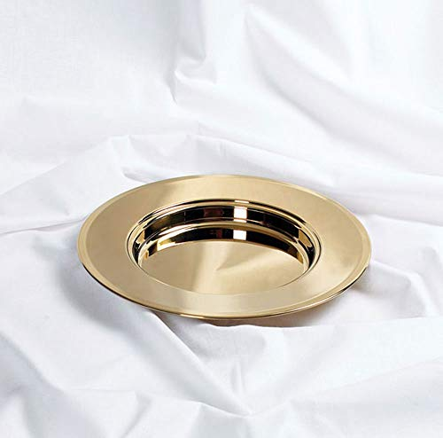 Bread Plate - Brass tone - - Plate Stacking Bread