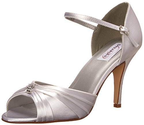Dyeables Womens Nora Pump White Satin