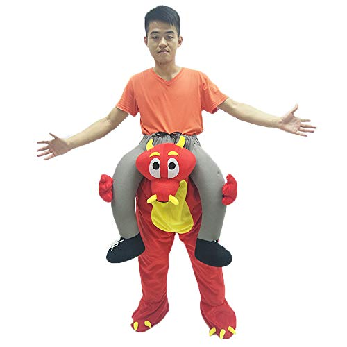 Mascot Costume Unisex Halloween Cosplay Novelty Ride On Clothes Animal Funny Fancy Dress Pants Christmas for Boy Girl (red Bull) ()