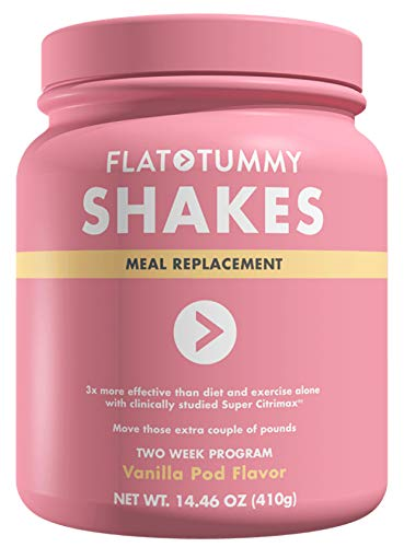 Flat Tummy Shake It Baby Protein Shakes - 10 Meal Replacement Packs, Vanilla Flavor with with clinically studied Super Citrimax/Garcinia Cambogia to Control Appetite