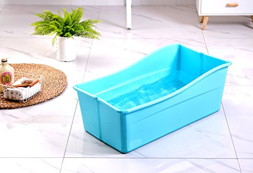 Ganen Baby Bath Tub Portable (Blue)