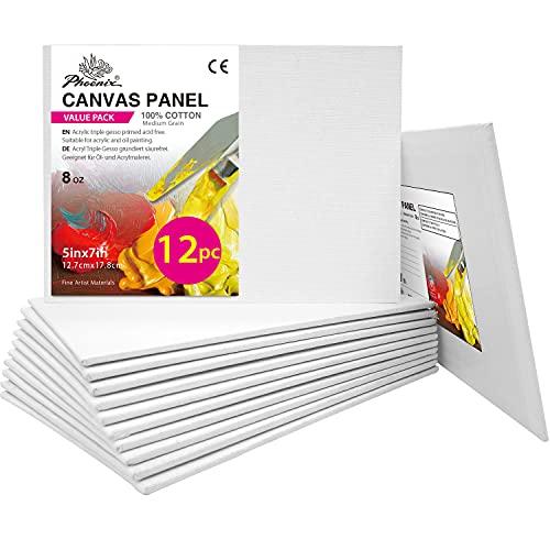 PHOENIX Artist Painting Canvas Panels - 5x7 Inch