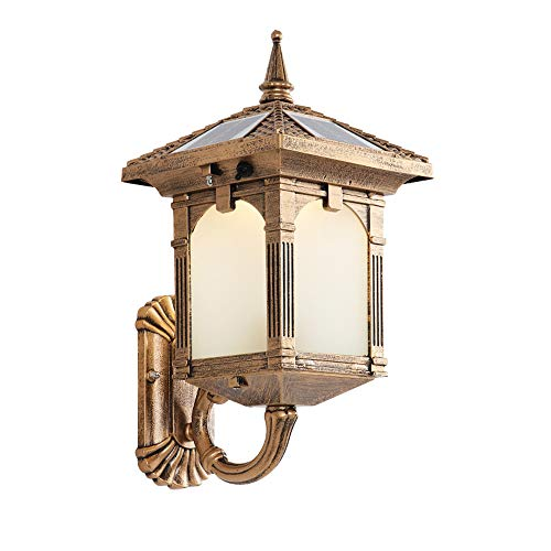 AXWT 2W Solar Wall Light Outdoor Wall Lantern Outdoor Wall Lamp Entry Light Door Post Villa Waterproof Garden Light Garden Light Home