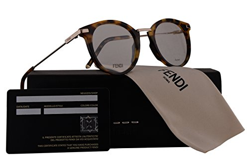 Fendi FF0227 Eyeglasses 48-22-145 Dark Havana w/Demo Clear Lens 086 FF - Fendi Sunglasses Sale