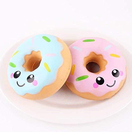 MTSZZF 1 paquete Donut Super Loafers Emoji Extruye juguetes de eliminación de estrés