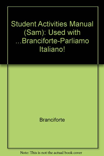 Parliamo Italiano Student Activities Manual (Italian Edition)