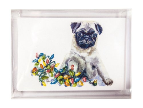 Rainbow Card Company 10-pack Christmas Postcards - Pug by Rainbow Card Company (Image #1)