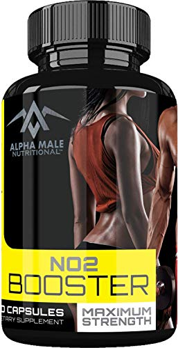 Alpha Male Nutritional Nitric Oxide Booster - Our Most Powerful 1600MG NO2 Booster and Muscle Builder for Strength, Energy, Blood Flow, Boost Libido, Weight Loss and Endurance - 60 ()