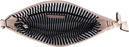 Zipper Vegan BRENTANO Multi Accents Handbag Fl Purse Pink Crossbody Tassel B with ftUw5w