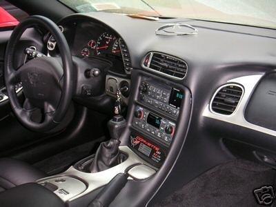 Chevrolet Chevy Corvette Interior Aluminum Silver Dash Trim KIT Set C-5 C5 2001 2002 2003 2004 ()