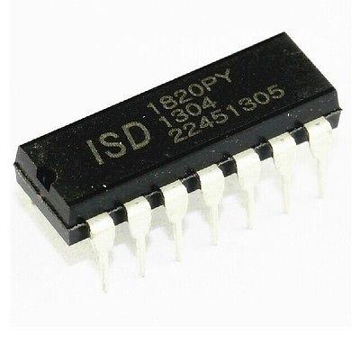 10pcs ISD1820 ISD1820P ISD1820PY DIP-14 Chip 8-20s IC NEW