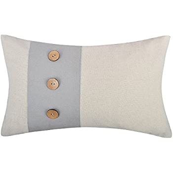 Amazon JWH Linen Applique Accent Pillow Cases Decorative Gorgeous Decorative Pillows With Buttons