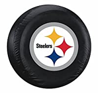 Pittsburgh Steelers Black Logo Tire Cover - Size Large - NFL Licensed