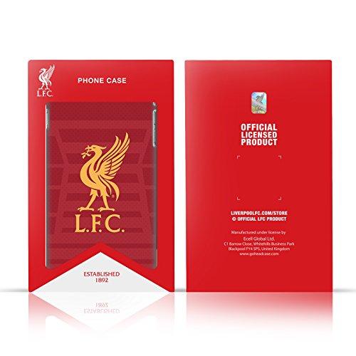 Officiel Liverpool Football Club Or Logo Sur Noir Liver Bird Étui Coque De Livre En Cuir Pour Apple iPhone 6 / 6s