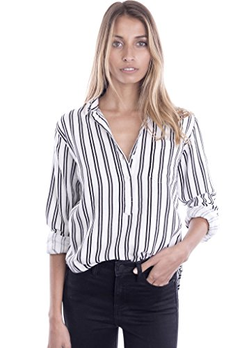 camixa-womens-striped-button-up-popover-shirt-effortless-work-to-weekend-basic-xs-white-black