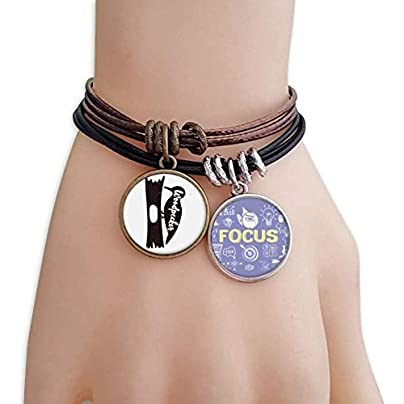SeeParts Woodpecker Black And White Animal Bracelet Rope Wristband Force Handcrafted Jewelry Estimated Price £9.99 -