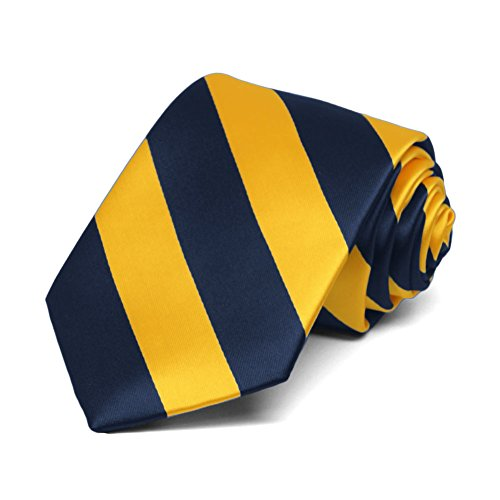 TieMart Boys Golden Yellow Striped product image