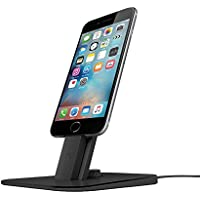 Twelve South HiRise Deluxe for iPhone/iPad, black | Adjustable charging stand w/Lightning + MicroUSB cables