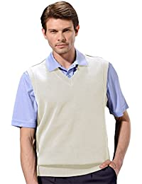 Mens Classic French Rib Knit V-Neck Vest #1924