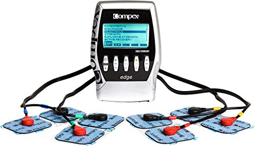 Compex Edge Electronic Muscle Stimulator Kit with Easy Snap Performance Electrodes