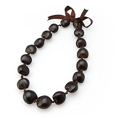Kukui Nut Choker Lei Brown 18 Nuts