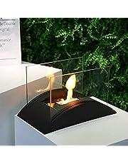 JHY Design Rechthoekige Tafelblad Vuurschaal Pot Draagbaar 35 cm L Tafelblad Open Haard - Schoon Brandende Bio Ethanol Open Haard Zonder Ventilatie Voor Binnen Buiten Patio Feesten Evenementen