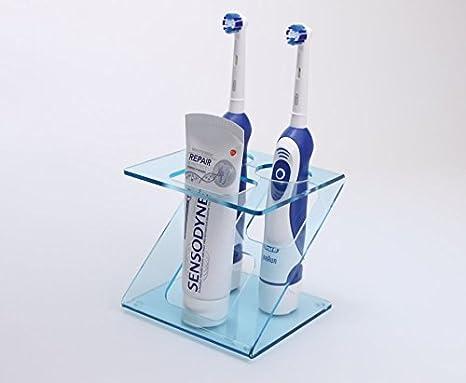 Soporte para 2 cepillos de dientes eléctricos, disponible en varios colores: Amazon.es: Hogar