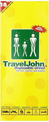 TravelJohn 66892 18-Pack Disposable Urinals -