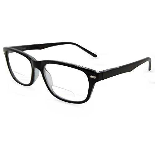 - In Style Eyes Seymore Retro BiFocal Reading Glasses Black 2.00