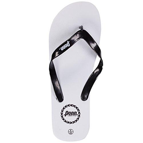 Penn Unisex Flip Flops blanco/negro