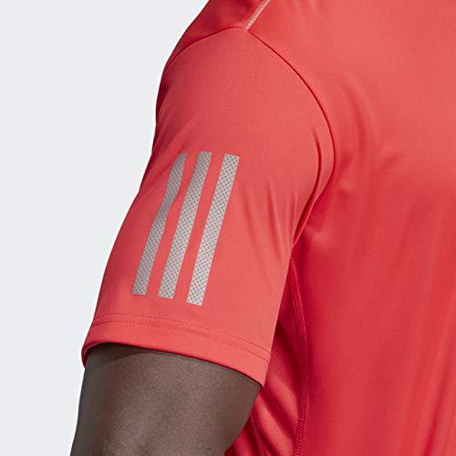 adidas Men's Club 3-Stripes Tee, Shock Red/Light Granite, X-Small by adidas (Image #5)