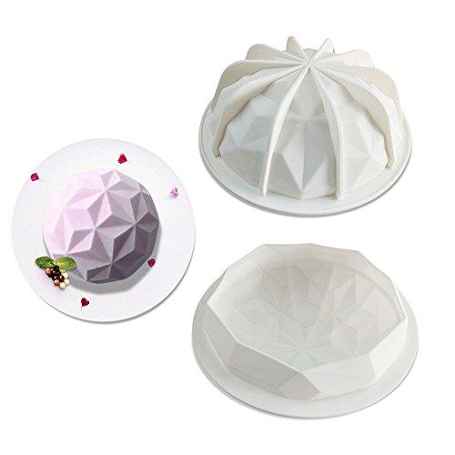 - Big Diamond Ball Silicone Molds Cake Decorating Tools Bakeware French Dessert Mousse Cake Mold Baking Cupcake Silicone Mousse Mold (Big Diamond Ball)