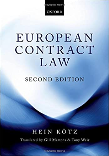 European Contract Law: Amazon co uk: Hein Kötz
