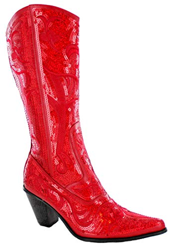 Helens Heart Bling Boots (9, Red) -
