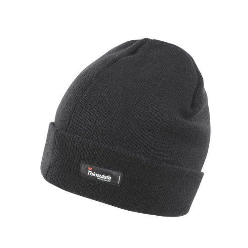 Result Unisex Lightweight Thermal Winter Thinsulate Hat (3M 40g) (One Size) (Black)