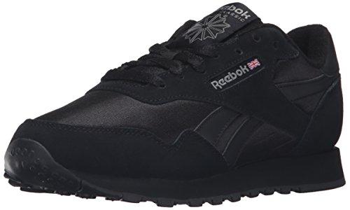 Reebok Women's Royal Nylon Fashion Sneaker, Black/Black/Carbon, 9.5 M US