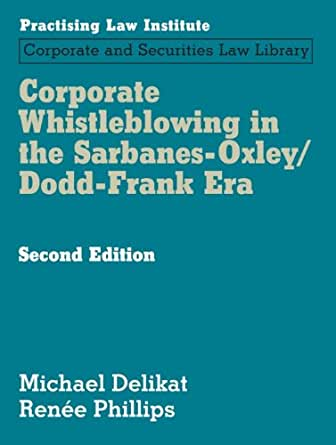 whistleblowing and sarbanes Find out more about the sarbanes oxley act which was setup to promote auditor independence by prohibiting fundamental conflicts of interests.