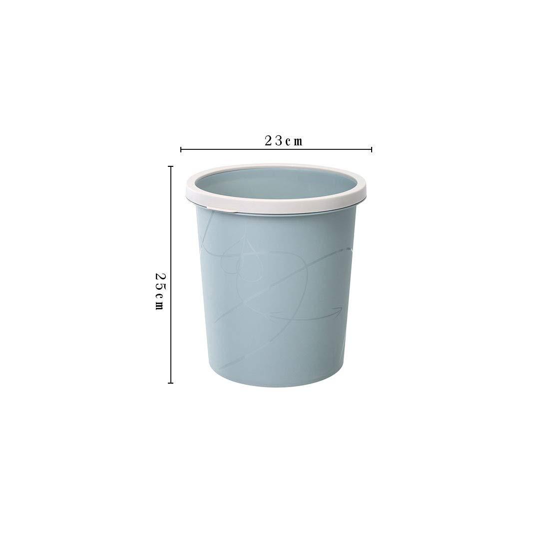 Abfalleimer QFQ Haushalt ohne Deckel Großer Plastikdruckring Mülleimer Farbe : Blau, größe : 23 * 25cm Aufbewahren & Ordnen Aufbewahren & Ordnen