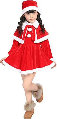 Elfjoy Baby Girls Boys Christmas Costume Santa Suit Cosplay For Christmas Gift (Small) - Santa Costume Girl