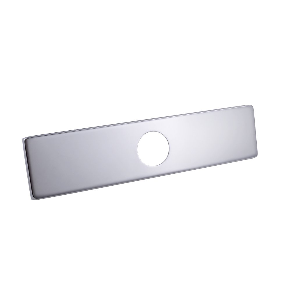 KES 6-Inch Sink Faucet Hole Cover Deck Plate Square Escutcheon for Bathroom or Kitchen Single Hole Mixer Tap, Polished Chrome, PEP2S15 KES Home (U.S.) Limited BHBUKALIAINH1689