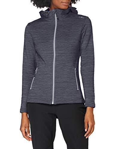 CMP Sweatshirt aus Stretch-Fleece mit Kapuze XL Graffite Mel.