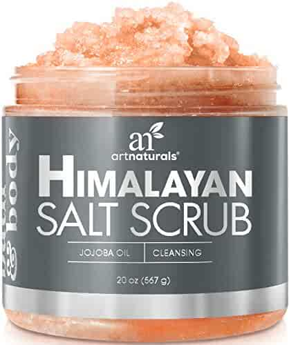 ArtNaturals Himalayan Salt Body Scrub - (20 Oz / 567g) - Deep Cleansing Exfoliator with Shea Butter, Dead Sea Salt, Vitamin C and Essential Oils - Moisturizes, Nourishes Soothes and Promotes Glowing
