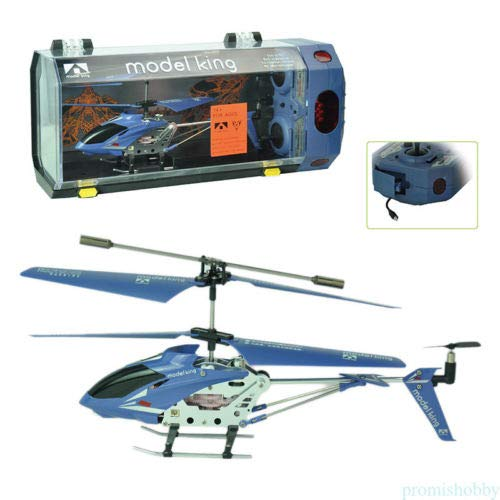 (FidgetKute Mini RC Helicopter Radio Remote Control Aircraft Charger Helicoptero Electric Blue)