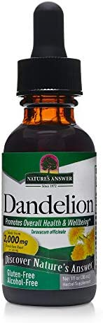 Nature s Answer Dandelion Root Supports Healthy Liver Function Promotes Detoxification Waste Elimination Alcohol-Free, Gluten-Free Kosher Certified No Preservatives 1oz