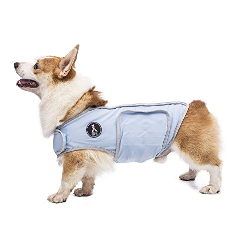 X@HE Comfort Dog Anxiety Relief Coat, Dog Anxiety Calming Vest Wrap,Thunder Shirts Jacket for XS Small Medium Large XL Dogs,Blue Grey,M