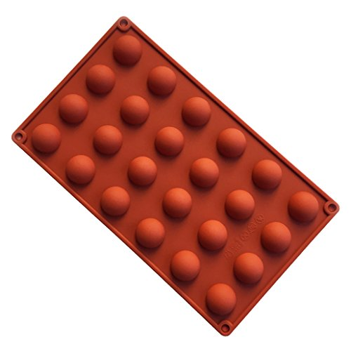 FantasyDay Premium 24-Cavity Semi-Ball Silicone Baking Mold for Your Chocolate Desserts, Ice Cream Bombes, Mini Teacake, Fondant, Candy, Icing, Tray, Candy, Cookie, Gummy, Jello Shot and etc.#2