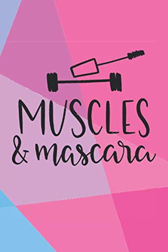 Muscles & Mascara: Cute Fitness Journal Workout Log Book For Women Exercise Plan Weight Loss Diary Daily Activity Tracker Cardio Crossfit WOD HIIT ... Gym Gift For Her - Neon Geometric Design (Cross Trainer Workout Plan For Weight Loss)