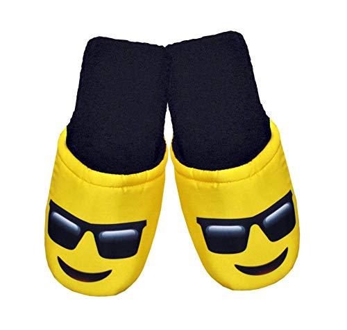 Smile E Prodotto Cucito Glasses Mattioli Interamente Pantofole Italia Emoticon Donna Spugna Morbida Casa Uomo In w4ptvqzA
